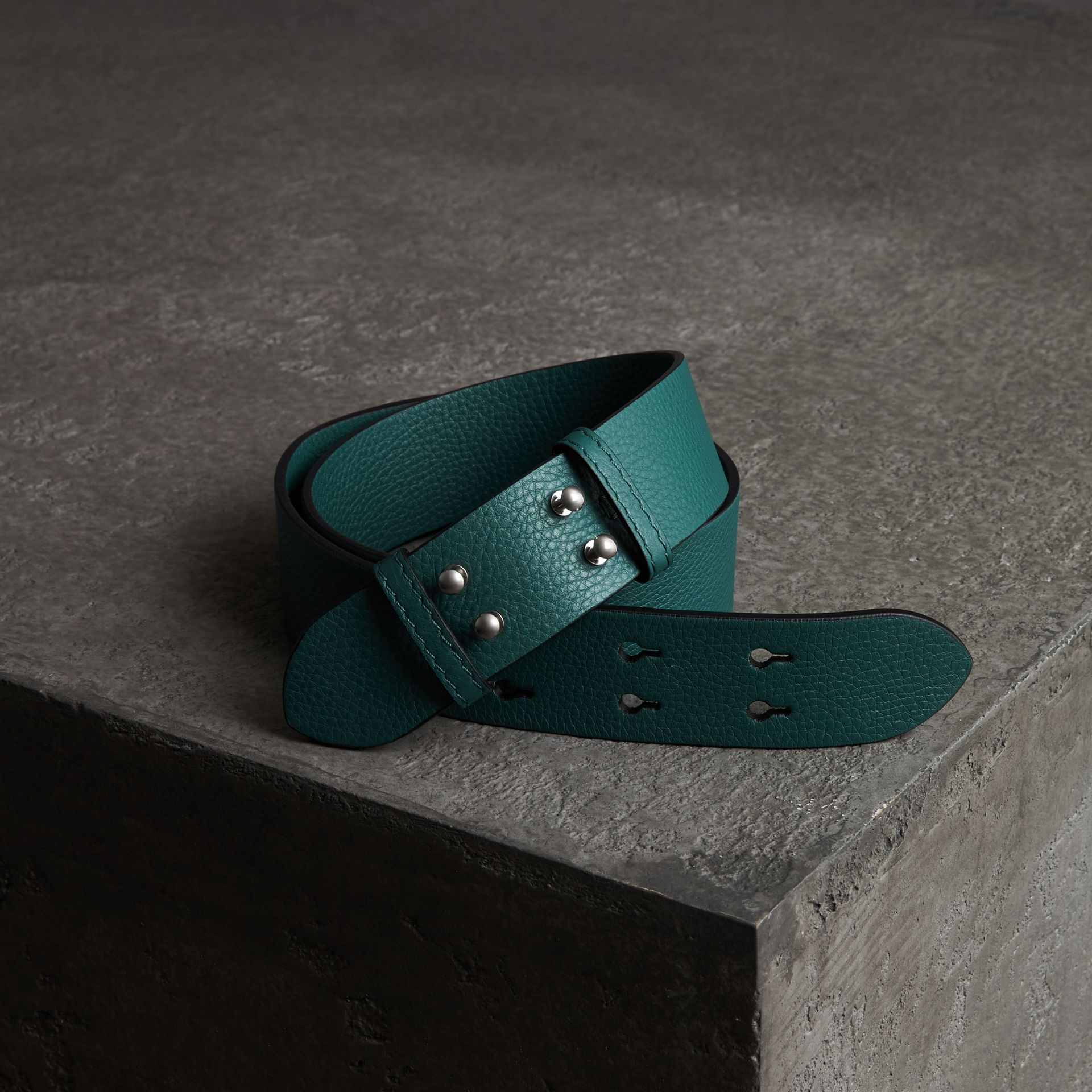 The Small Belt Bag Grainy Leather Belt in Sea Green - Women | Burberry - gallery image 0