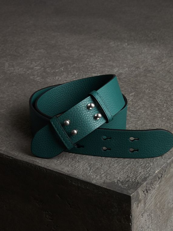 The Small Belt Bag Grainy Leather Belt in Sea Green