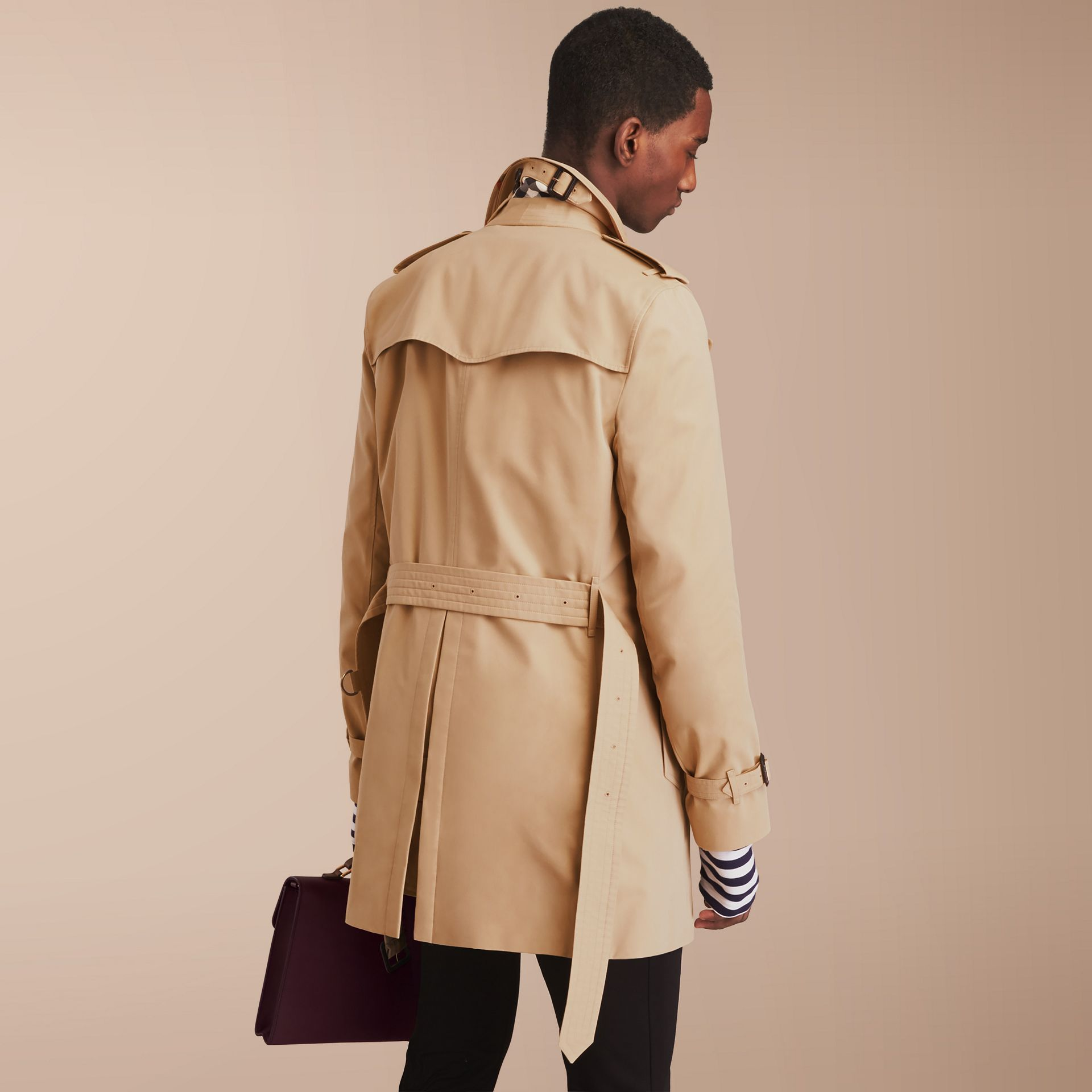 The Sandringham – Mid-length Heritage Trench Coat in Honey - gallery image 3