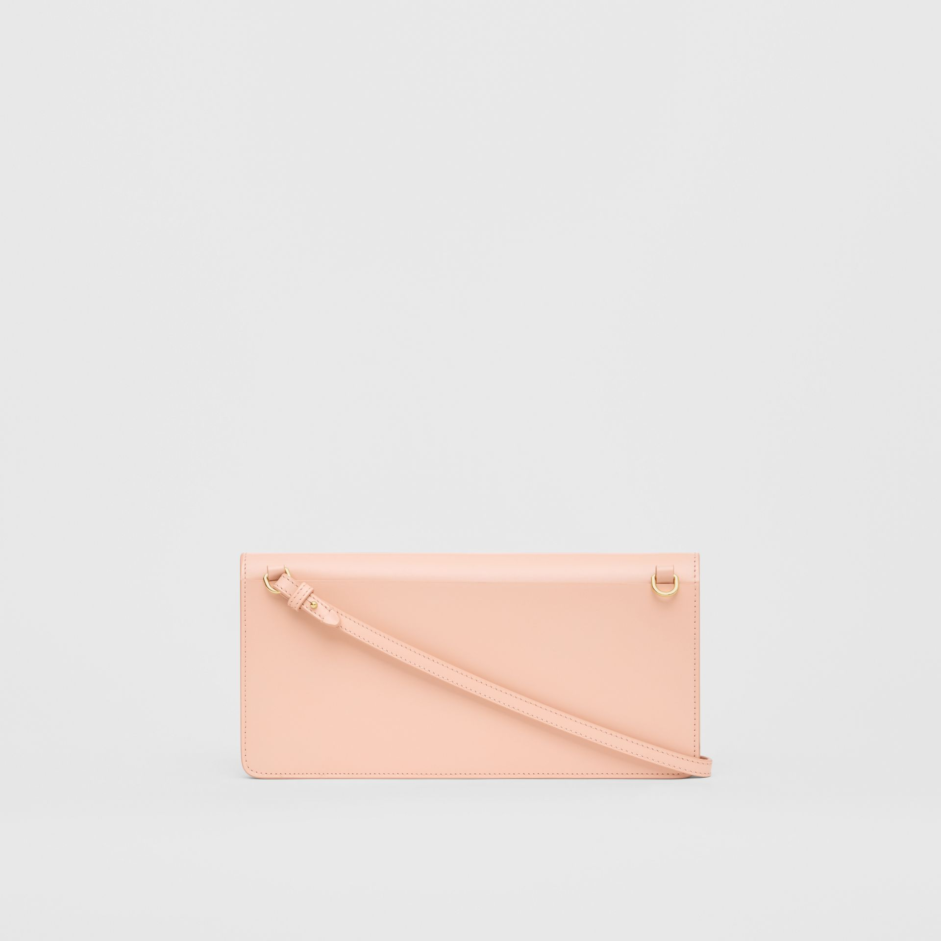 Horseferry Print Leather Bag with Detachable Strap in Blush Pink - Women | Burberry Australia - gallery image 7