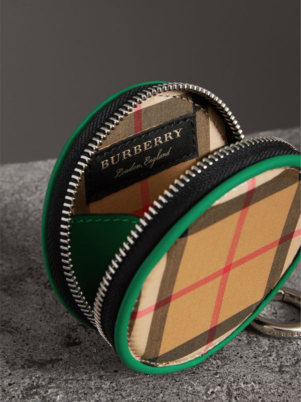 Coated Vintage Check Coin Case in Palm Green | Burberry Australia - cell image 3