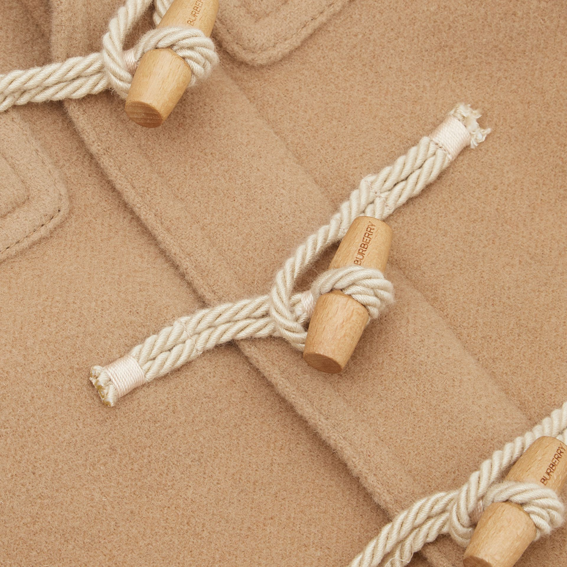 Boiled Wool Duffle Coat in Archive Beige | Burberry Australia - gallery image 1