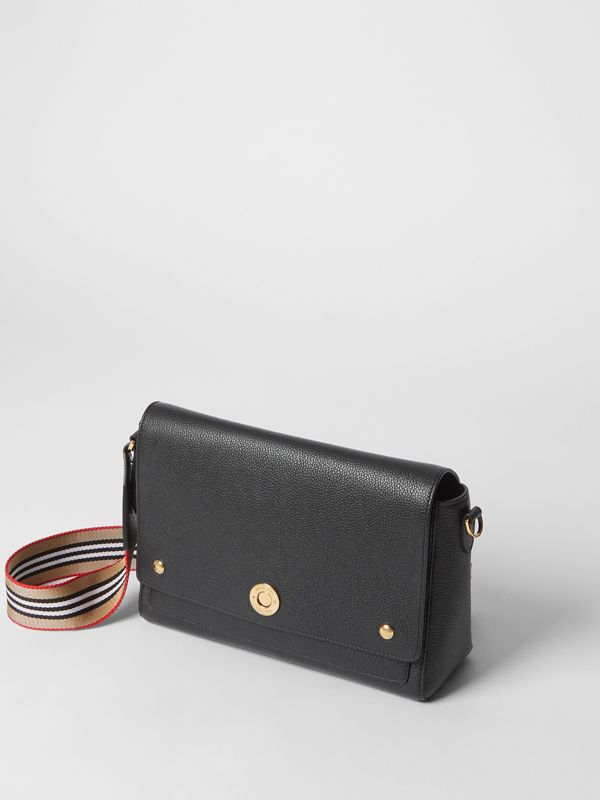 Grainy Leather Note Crossbody Bag in Black - Women | Burberry United Kingdom - cell image 3