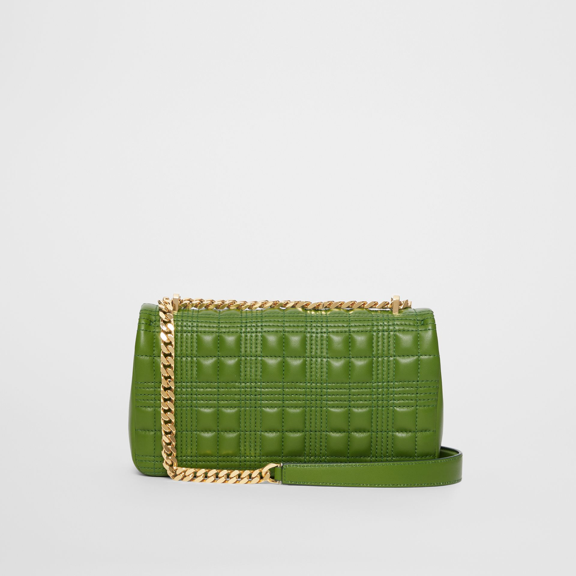 Small Quilted Check Lambskin Lola Bag in Green Forest - Women | Burberry - gallery image 7