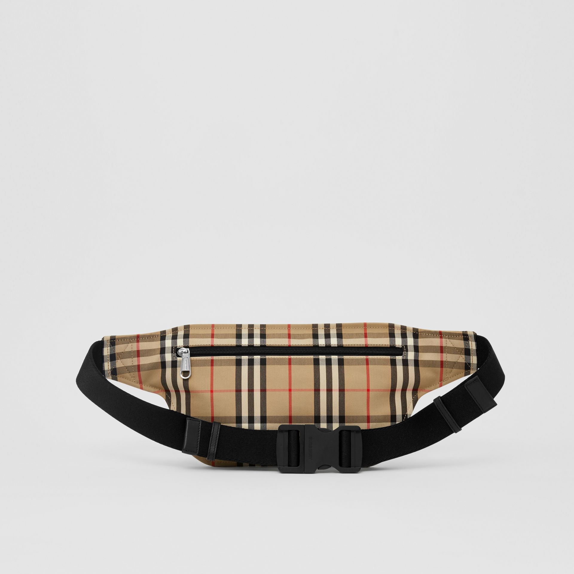 Logo Appliqué Vintage Check Brummell Bum Bag in Archive Beige | Burberry - gallery image 9