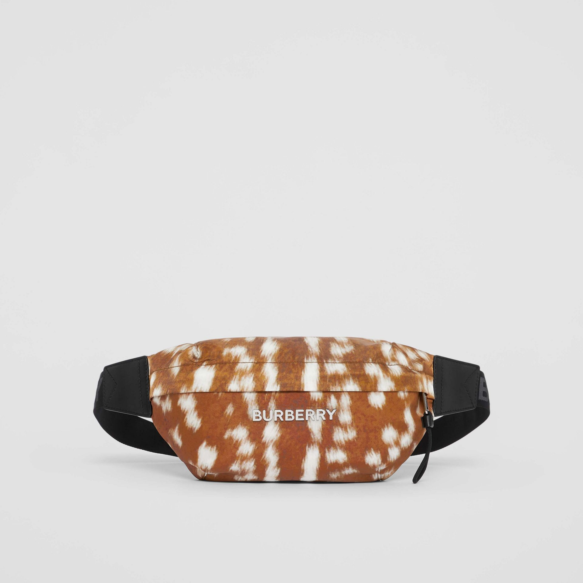 Medium Deer Print Bum Bag in Tan/white | Burberry - gallery image 0