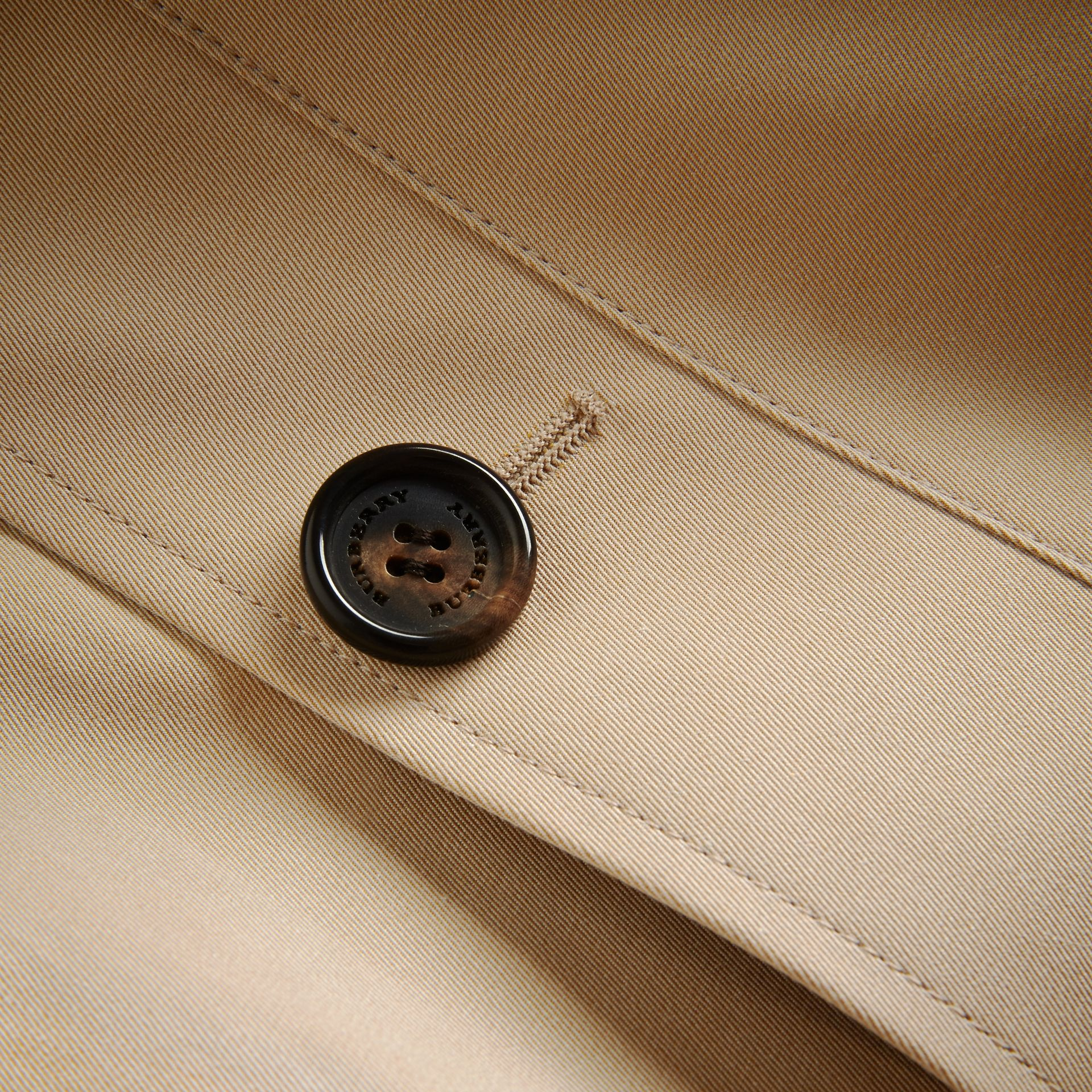Mid-length Cotton Gabardine Trench Coat - gallery image 3