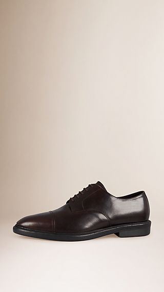 Shearling Lined Leather Derby Shoes