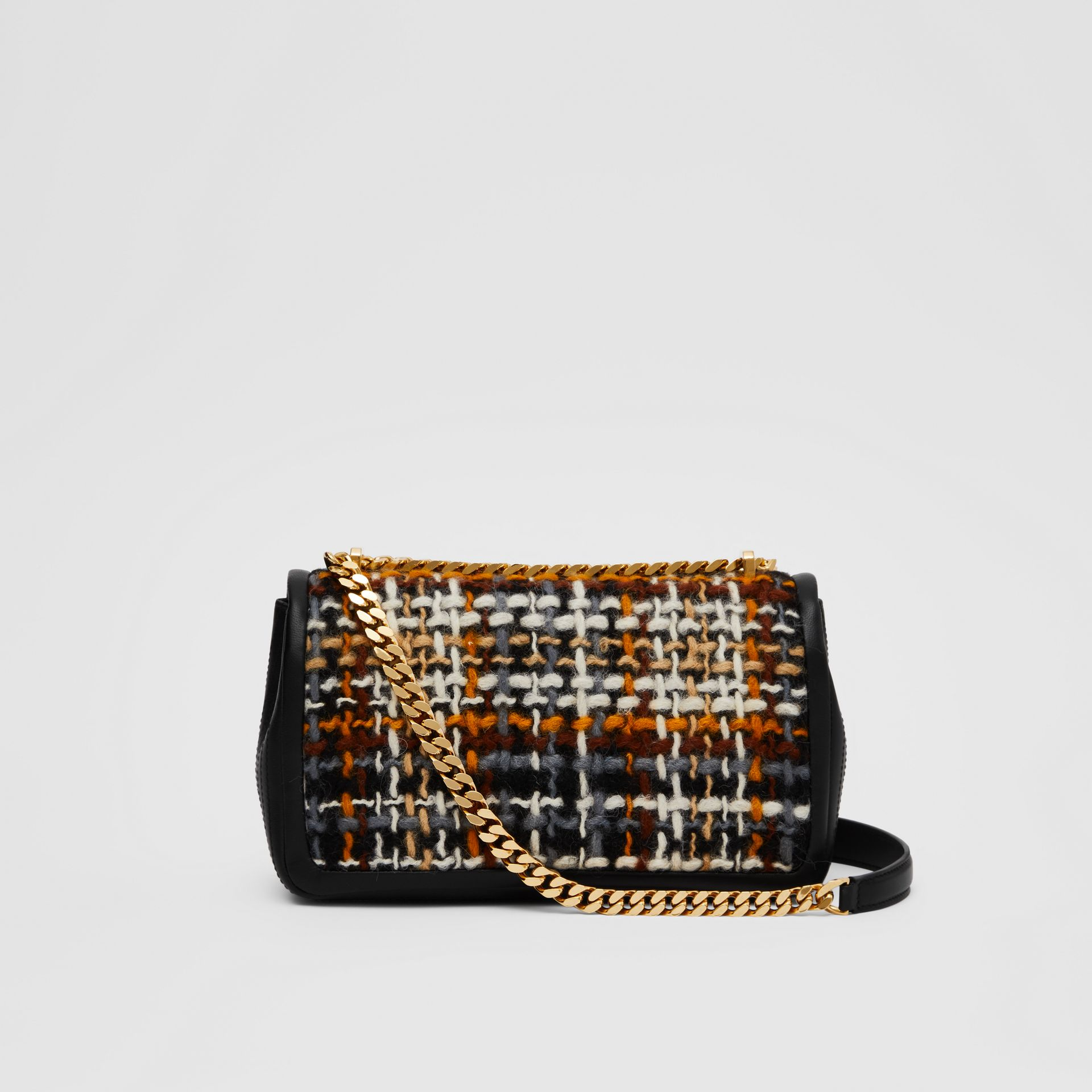Small Tweed and Lambskin Lola Bag in Black - Women | Burberry - gallery image 7