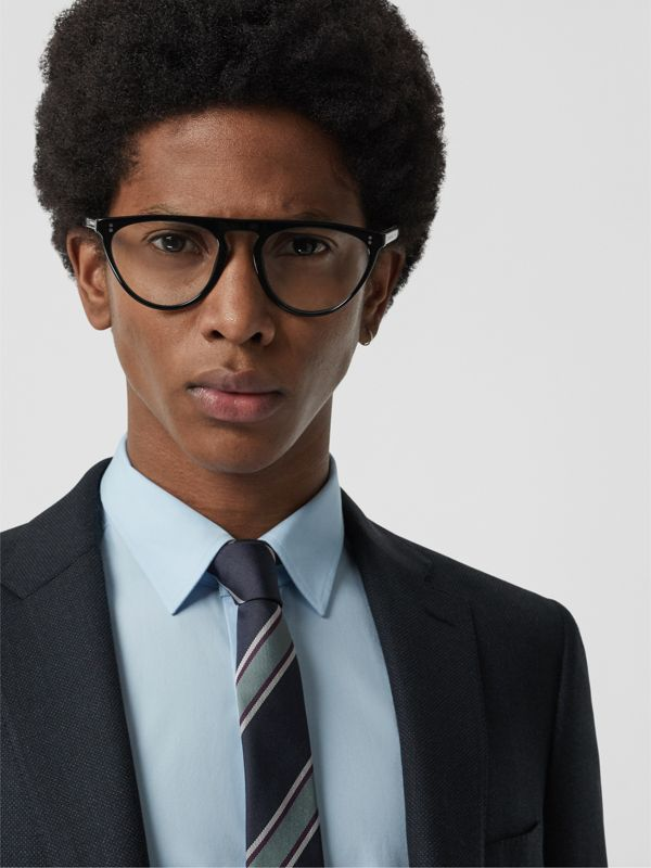 Keyhole D-shaped Optical Frames in Black - Men | Burberry Singapore - cell image 2