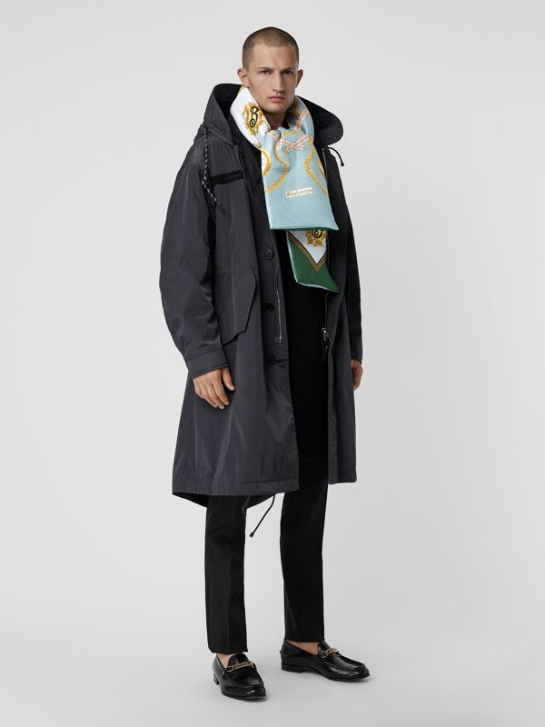 Archive Scarf Print Silk Puffer Scarf in Multicolour | Burberry United Kingdom - cell image 3