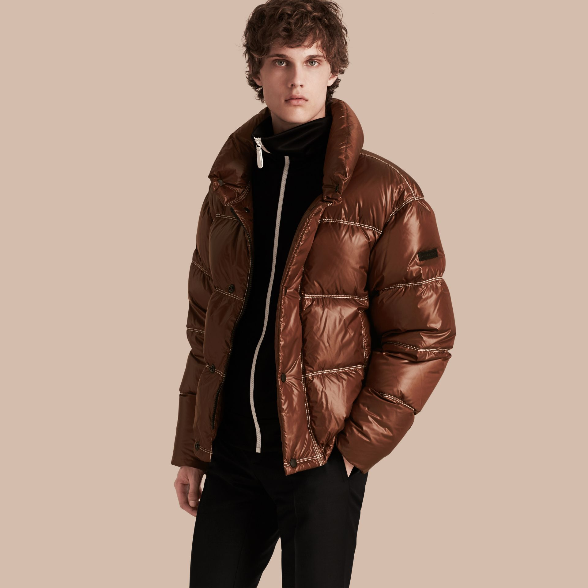 Chestnut brown Down-filled Puffer Jacket - gallery image 1