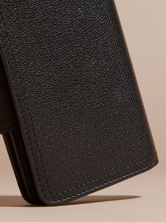 Black Grainy Leather Wallet Black - cell image 3