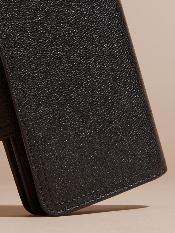 Noir Portefeuille en cuir grené Noir - cell image 3