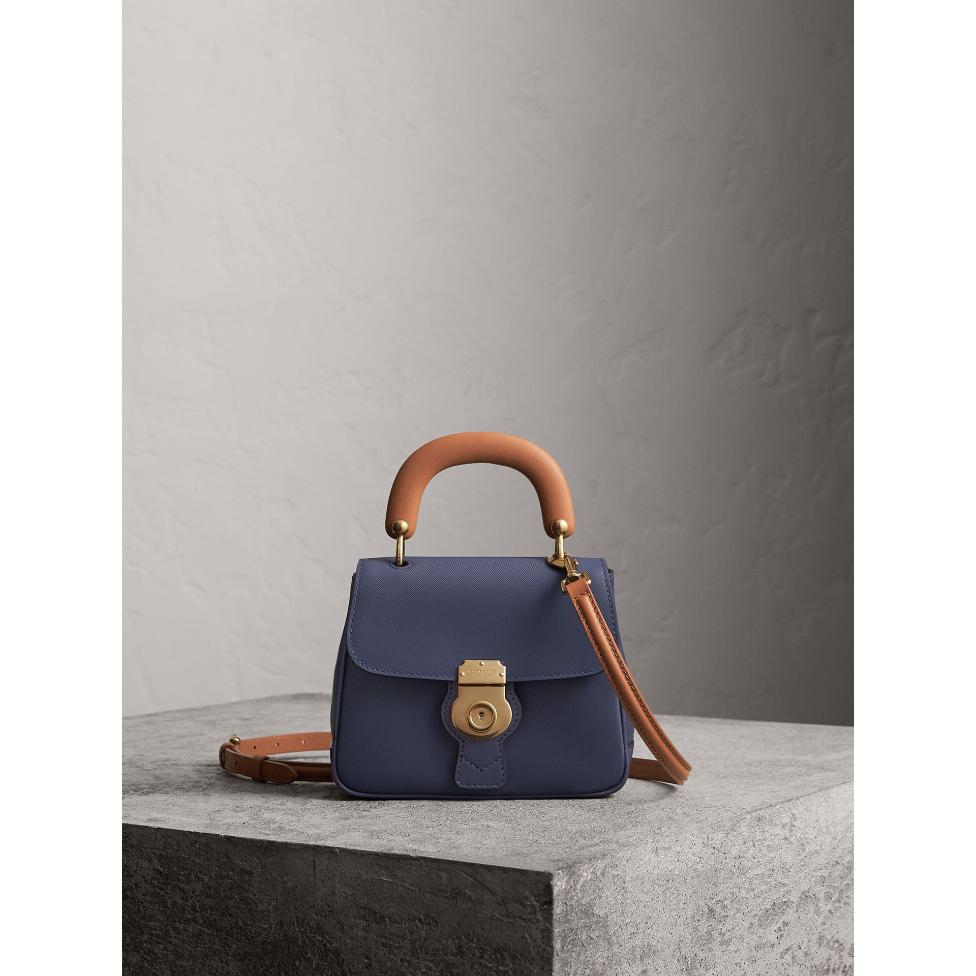 The Small DK88 Top Handle Bag in Ink Blue - Women | Burberry - gallery image 1