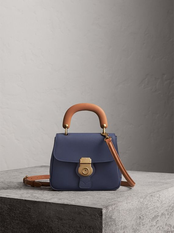 The Small DK88 Top Handle Bag in Ink Blue