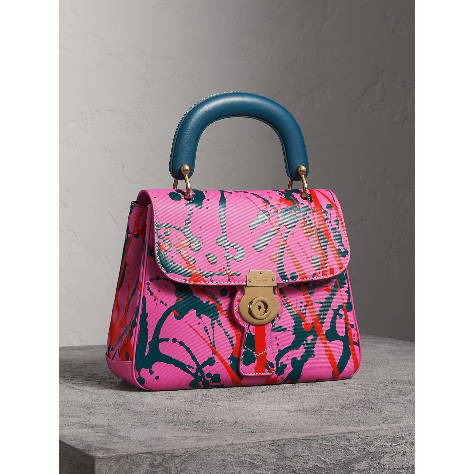 Bolsa de mão DK88 Splash - Média (Rosa Pink) - Mulheres | Burberry - galeria de imagens 7