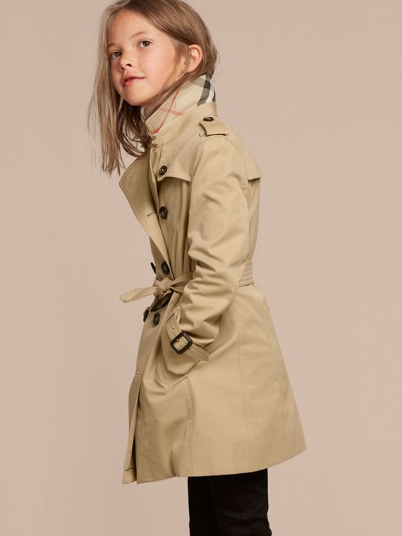 The Sandringham – Heritage Trench Coat in Honey - Girl | Burberry Canada - cell image 2