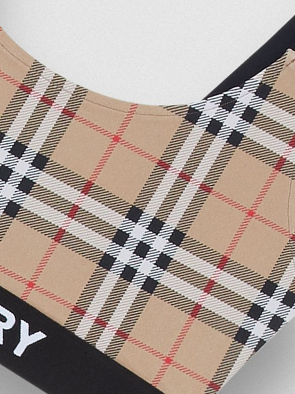 Logo Detail Vintage Check Bikini in Archive Beige - Women | Burberry United Kingdom - cell image 1