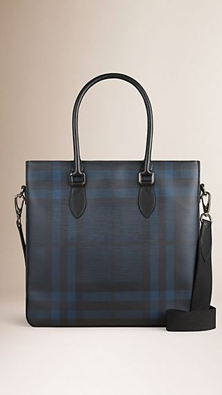 London Check Tote Bag