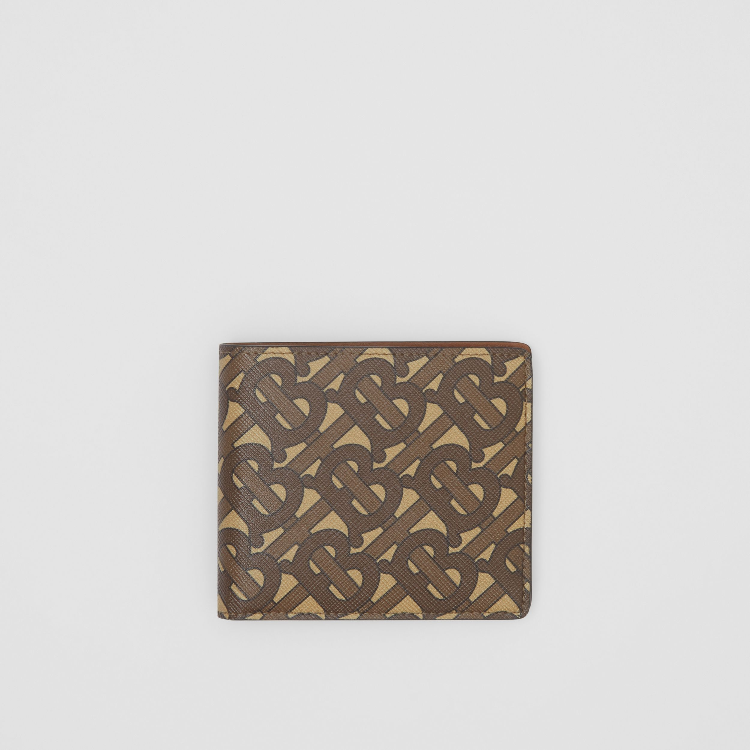 Monogram Print E-canvas International Bifold Wallet in Bridle Brown - Men | Burberry - 3