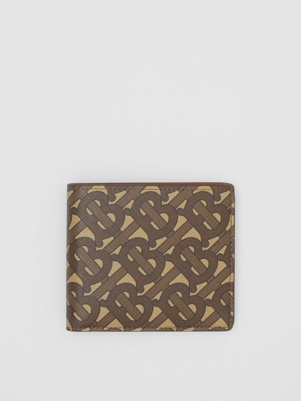 Monogram Print E-canvas International Bifold Wallet in Bridle Brown - Men | Burberry United Kingdom - cell image 2