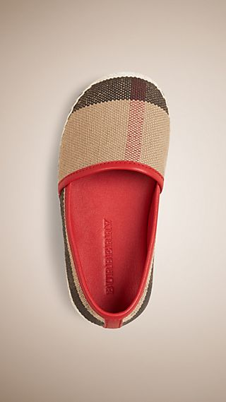 Espadrilles à motif Canvas check