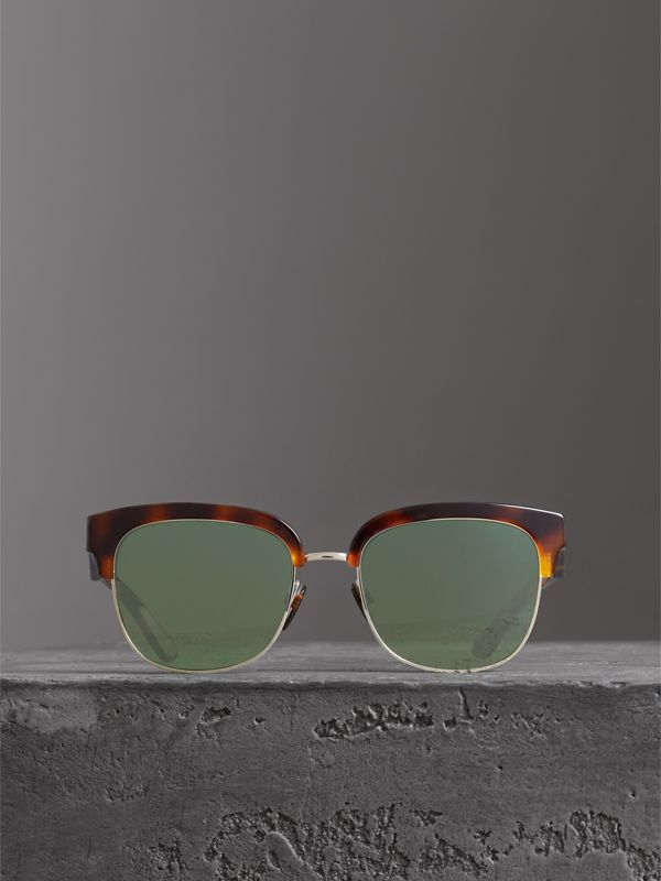 D-frame Sunglasses in Tortoise Shell - Men | Burberry Australia - cell image 2