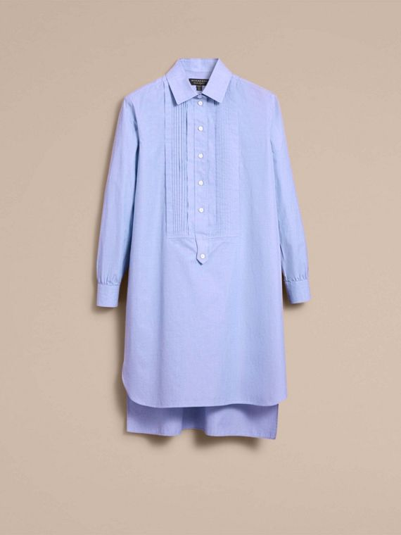 Abito chemisier a tunica in cotone chambray - Donna | Burberry - cell image 3