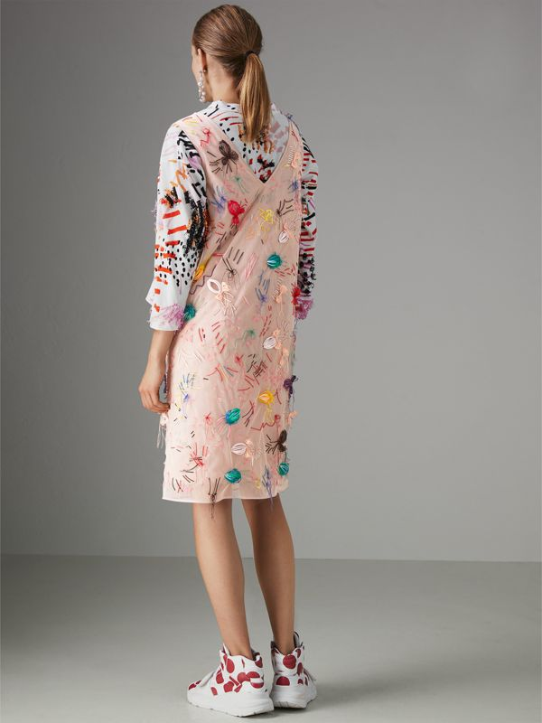 Embellished Sleeveless Dress in Pink - Women | Burberry United Kingdom - cell image 2