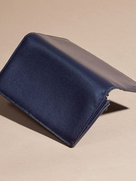 London Leather Continental Wallet in Dark Navy | Burberry Hong Kong - cell image 2