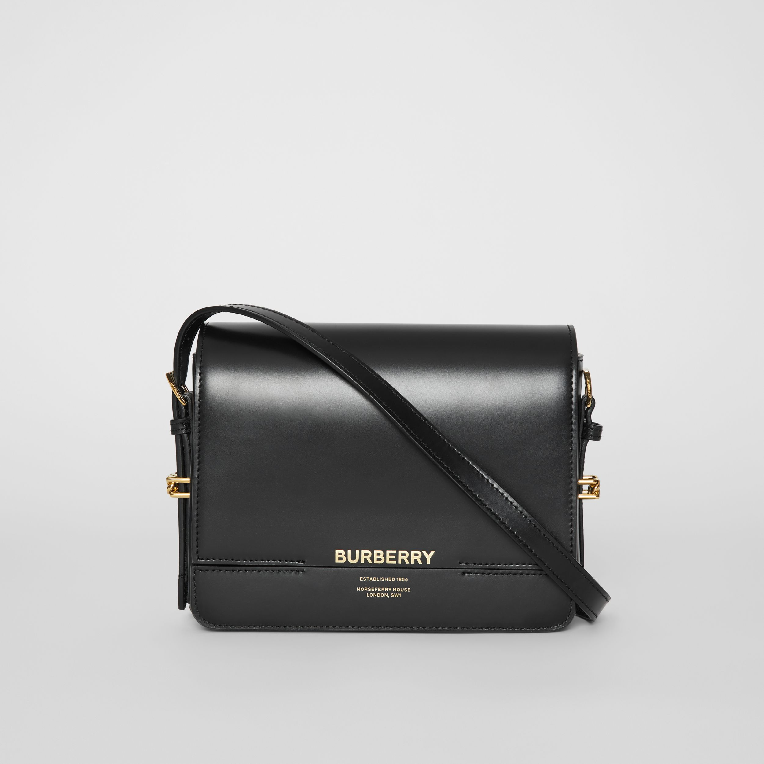 Small Leather Grace Bag in Black | Burberry - 1