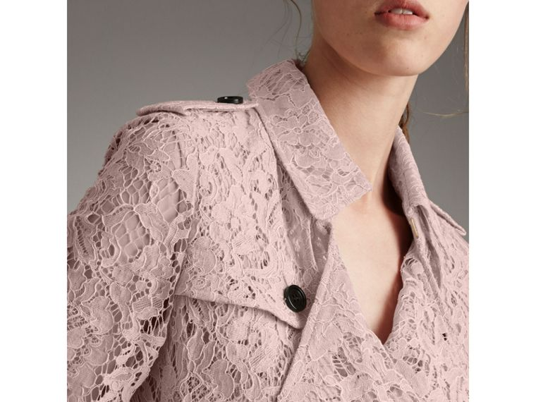 Macramé Lace Wrap Trench Coat in Nude - Women | Burberry - cell image 1
