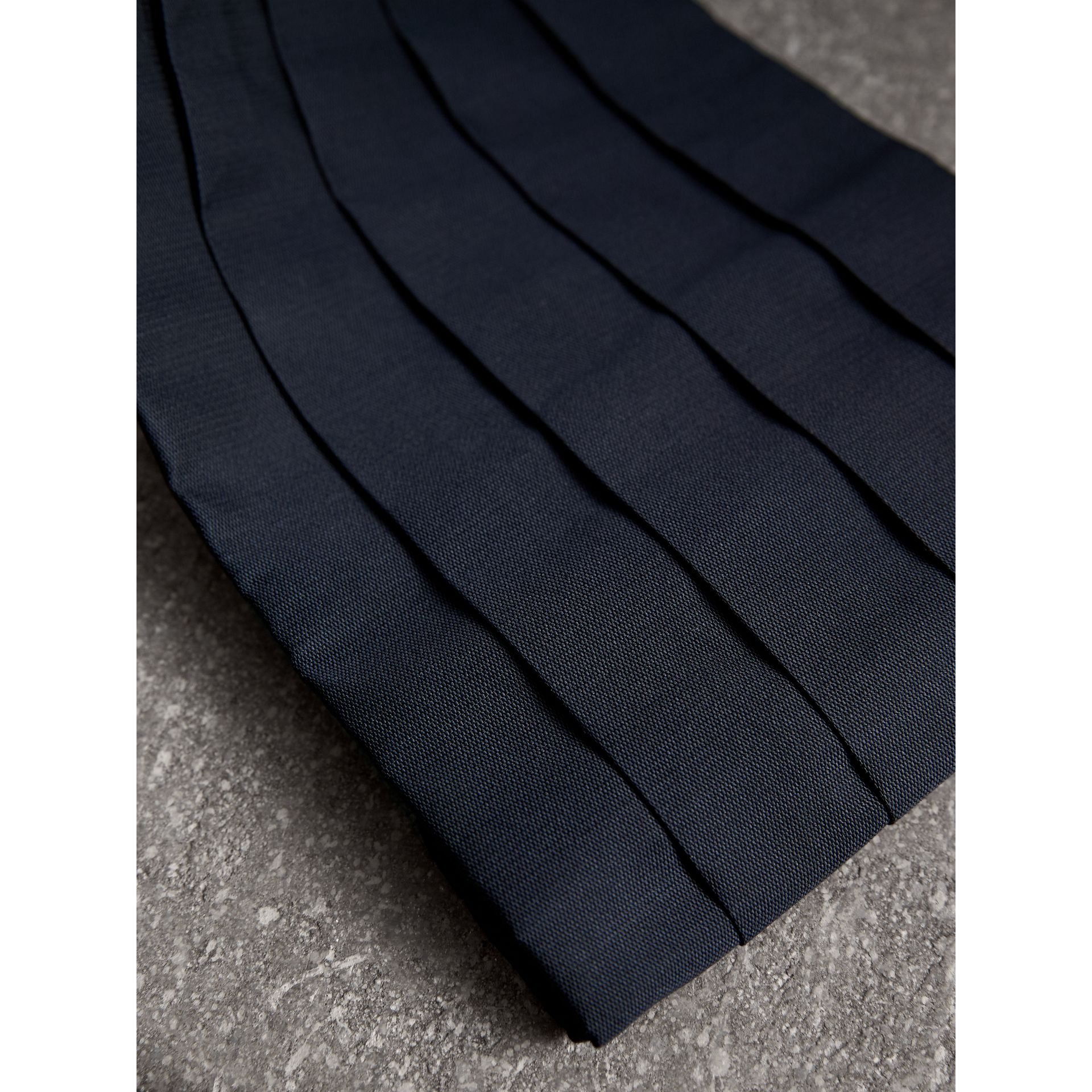 Pleated Silk Cummerbund in Midnight - Men | Burberry - gallery image 1