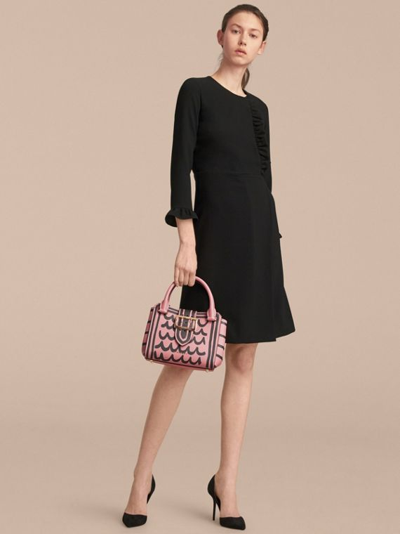 The Small Buckle Tote in Trompe L'oeil Print Leather in Dusty Pink - Women | Burberry - cell image 3