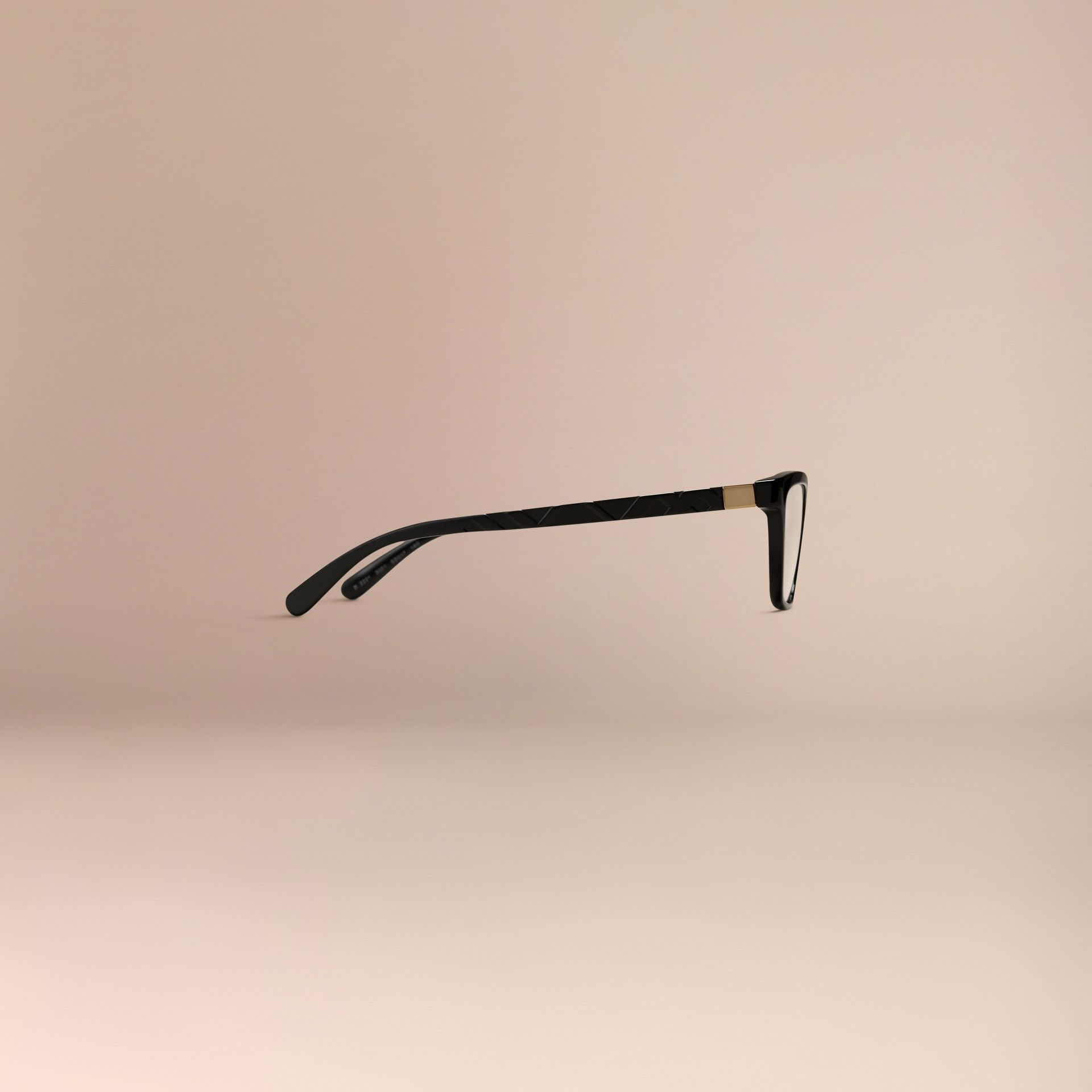 Black Check Detail Cat-eye Optical Frames Black - gallery image 5