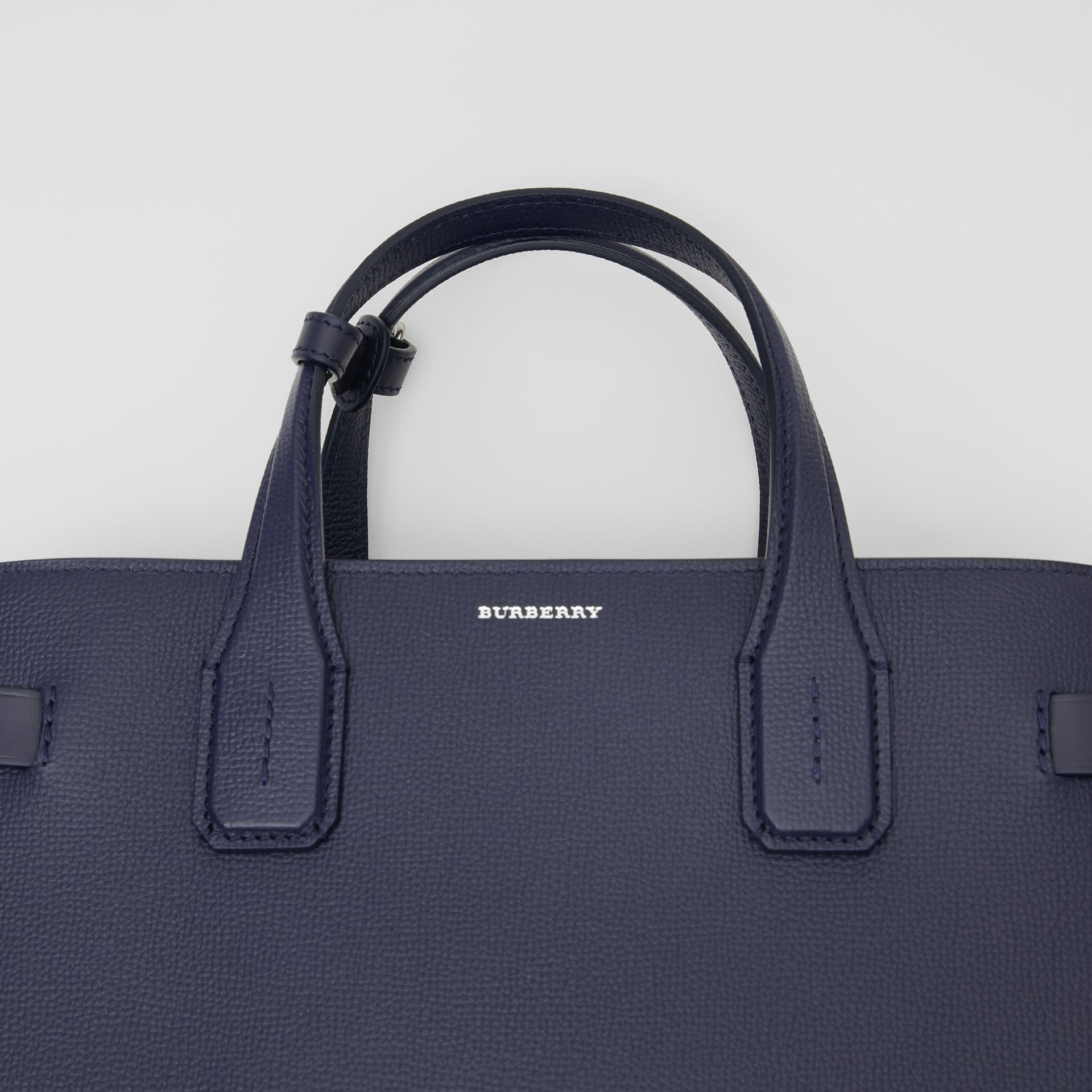 The Medium Banner in Leather and Vintage Check in Regency Blue - Women | Burberry - gallery image 1