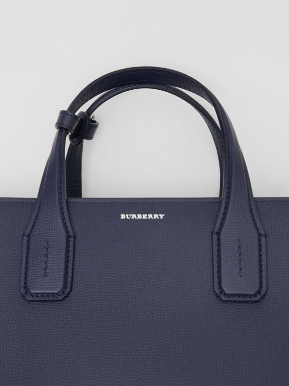 The Medium Banner in Leather and Vintage Check in Regency Blue - Women | Burberry - cell image 1