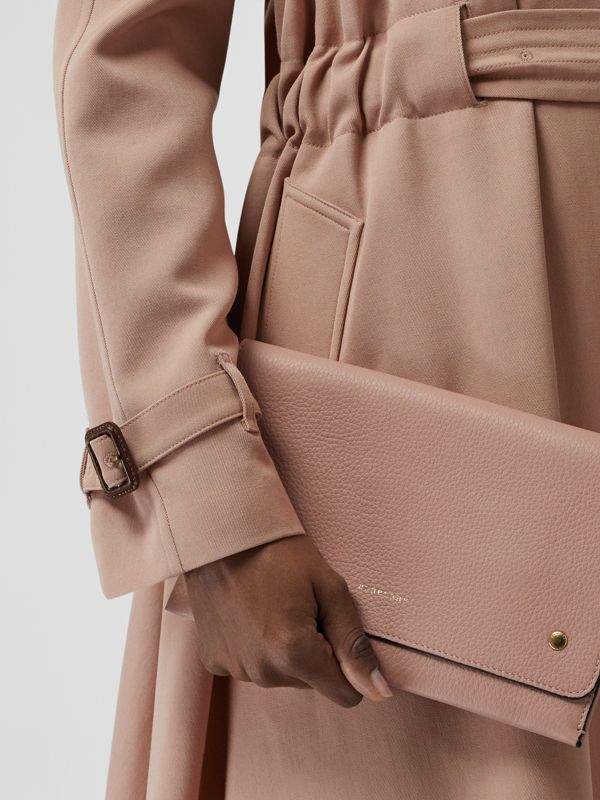 Two-tone Leather Wristlet Clutch in Ash Rose - Women | Burberry Canada - cell image 3