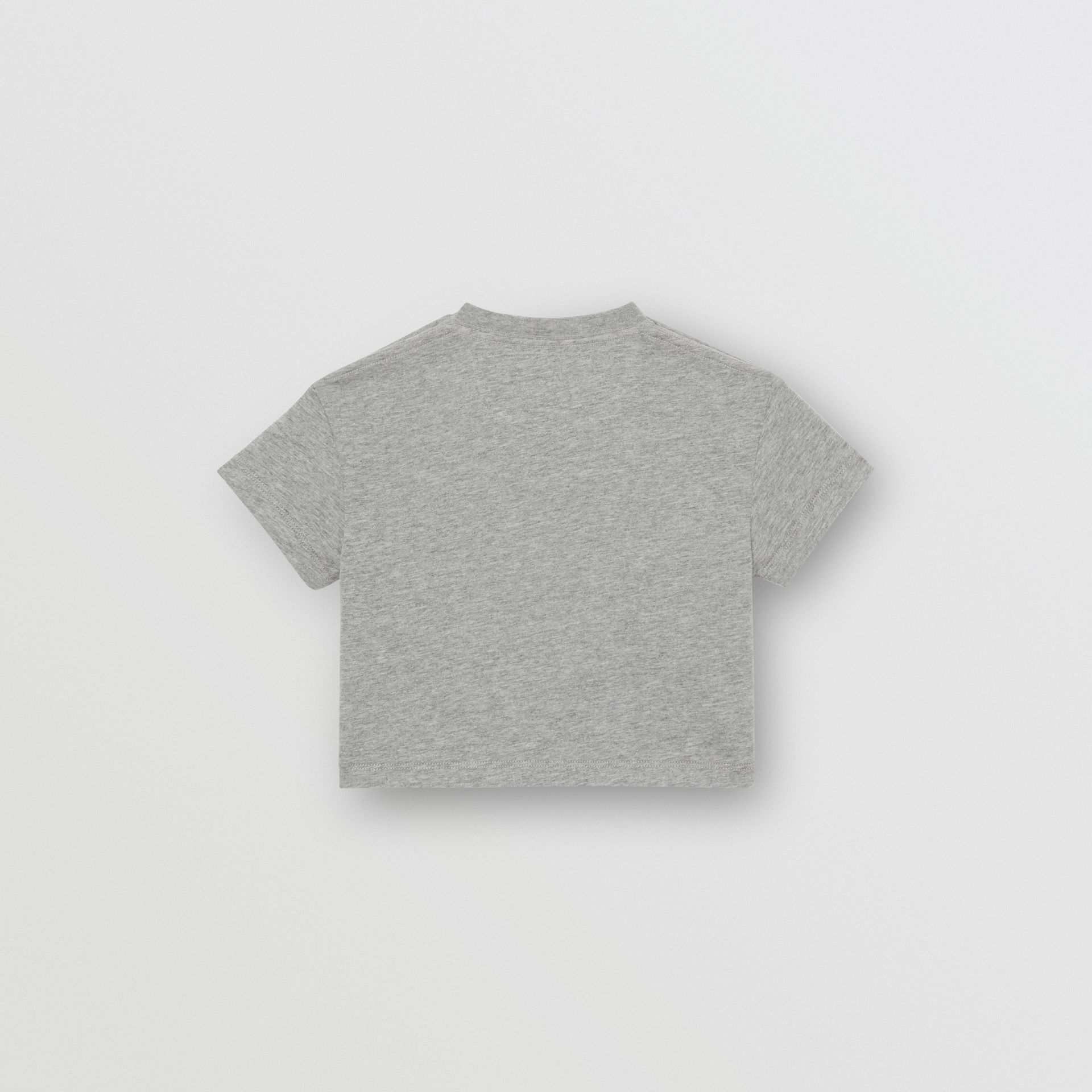 Logo Print Cotton T-shirt in Grey Melange - Children | Burberry Canada - gallery image 3