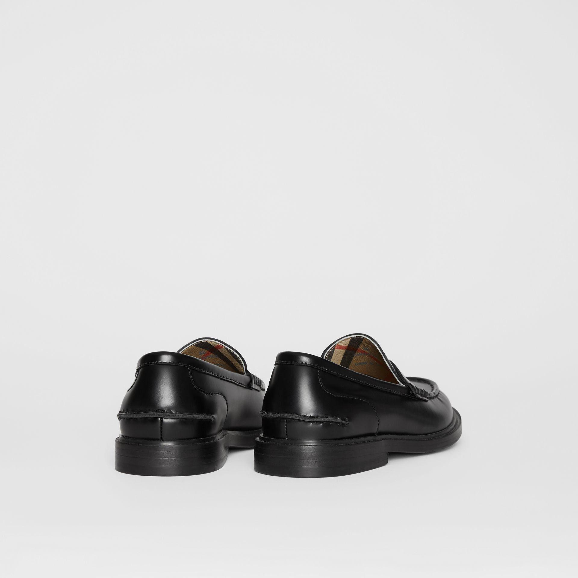 Smooth Leather Loafers in Black - Children | Burberry - gallery image 2