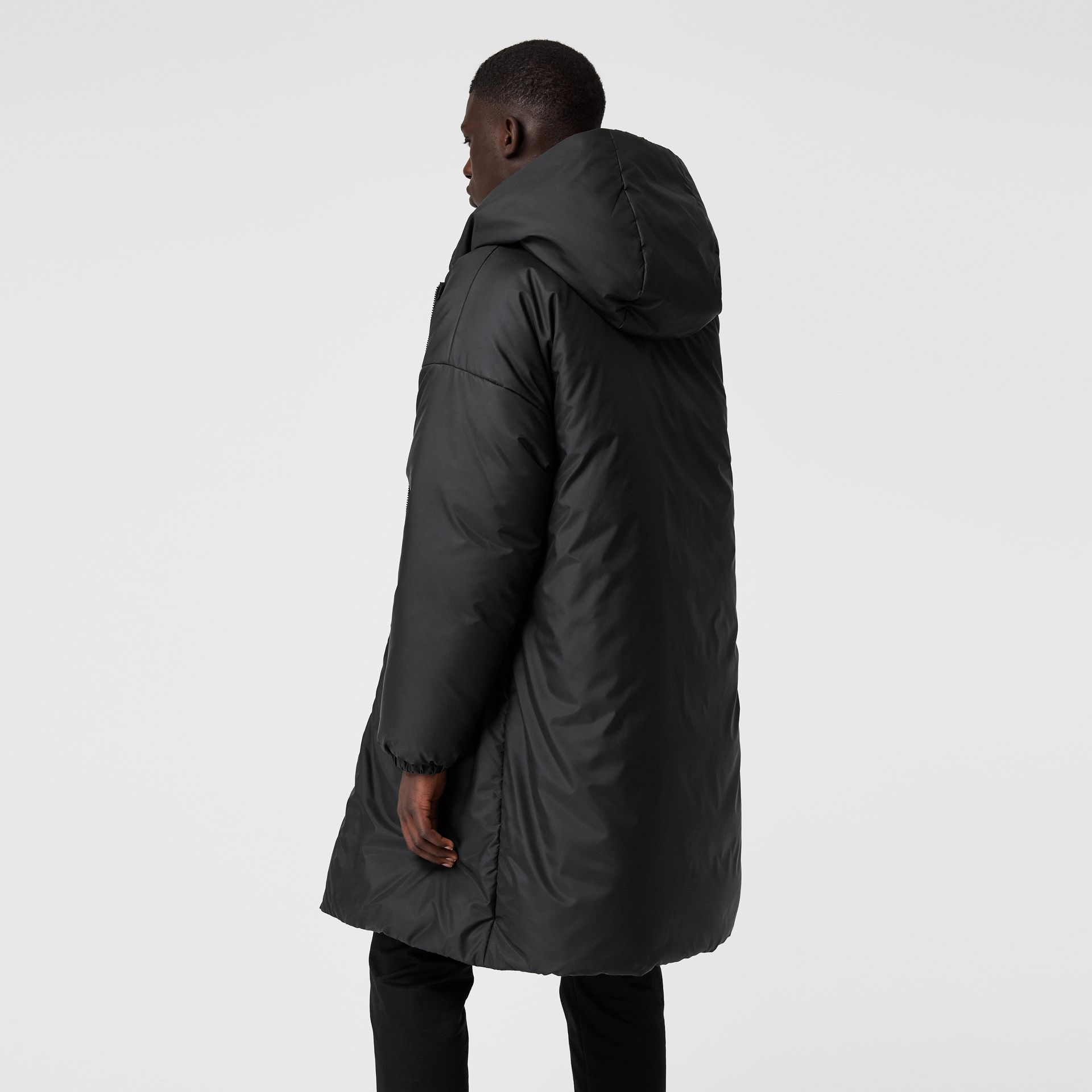 Down-filled Oversized Hooded Coat in Black - Men | Burberry United Kingdom - gallery image 2