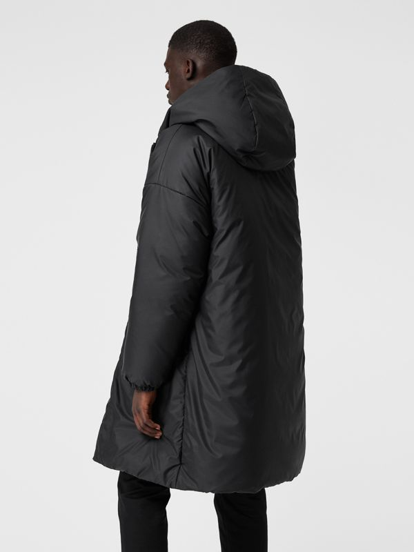 Down-filled Oversized Hooded Coat in Black - Men | Burberry United Kingdom - cell image 2