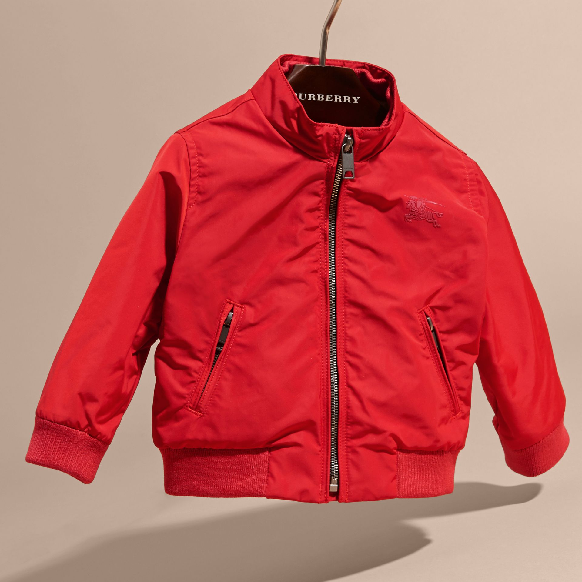 Technical Packaway Jacket in Military Red | Burberry - gallery image 3