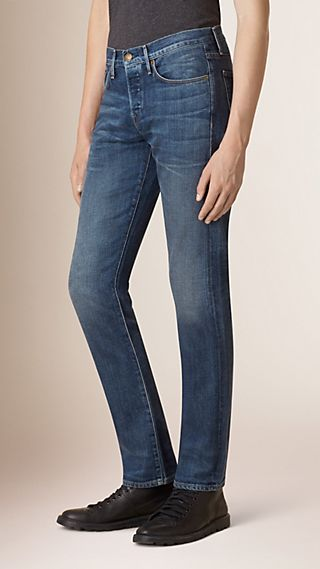 Straight Fit Japanese Stretch Selvedge Denim Jeans