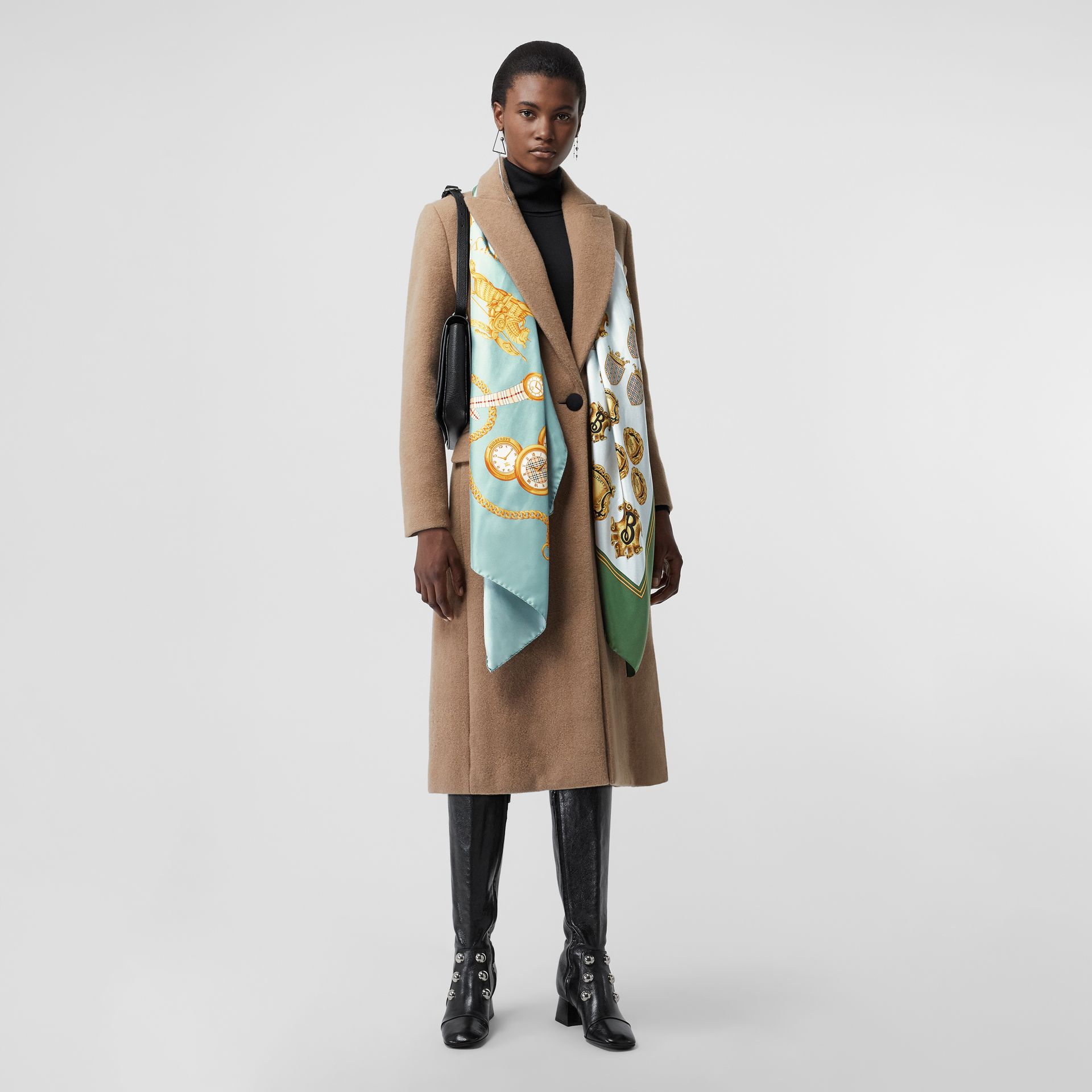 Archive Scarf Print Silk Scarf in Multicolour - Women | Burberry - gallery image 2