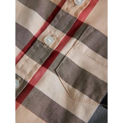 Burberry - Chemise en sergé de coton à motif check - 2