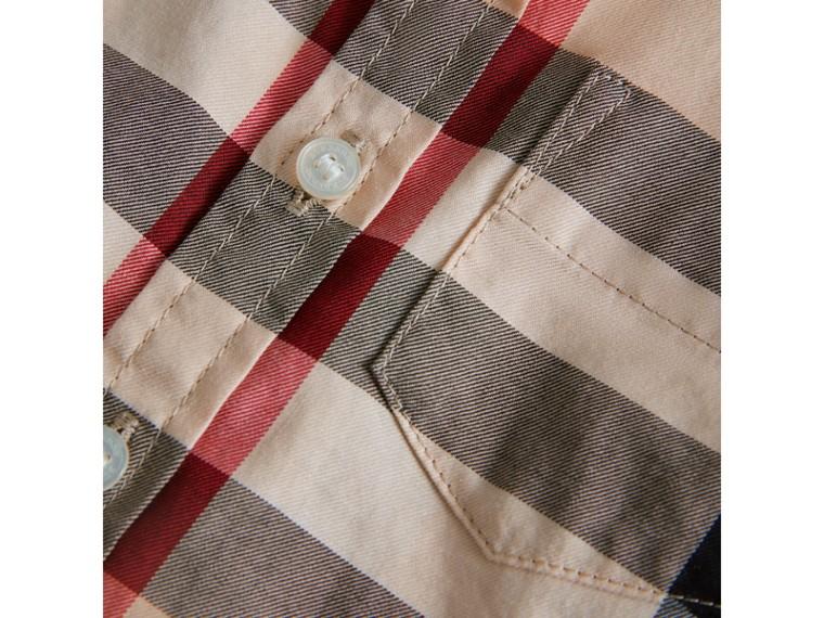 Camisa em sarja de algodão xadrez (Novo  Clássico) - Menino | Burberry - cell image 1