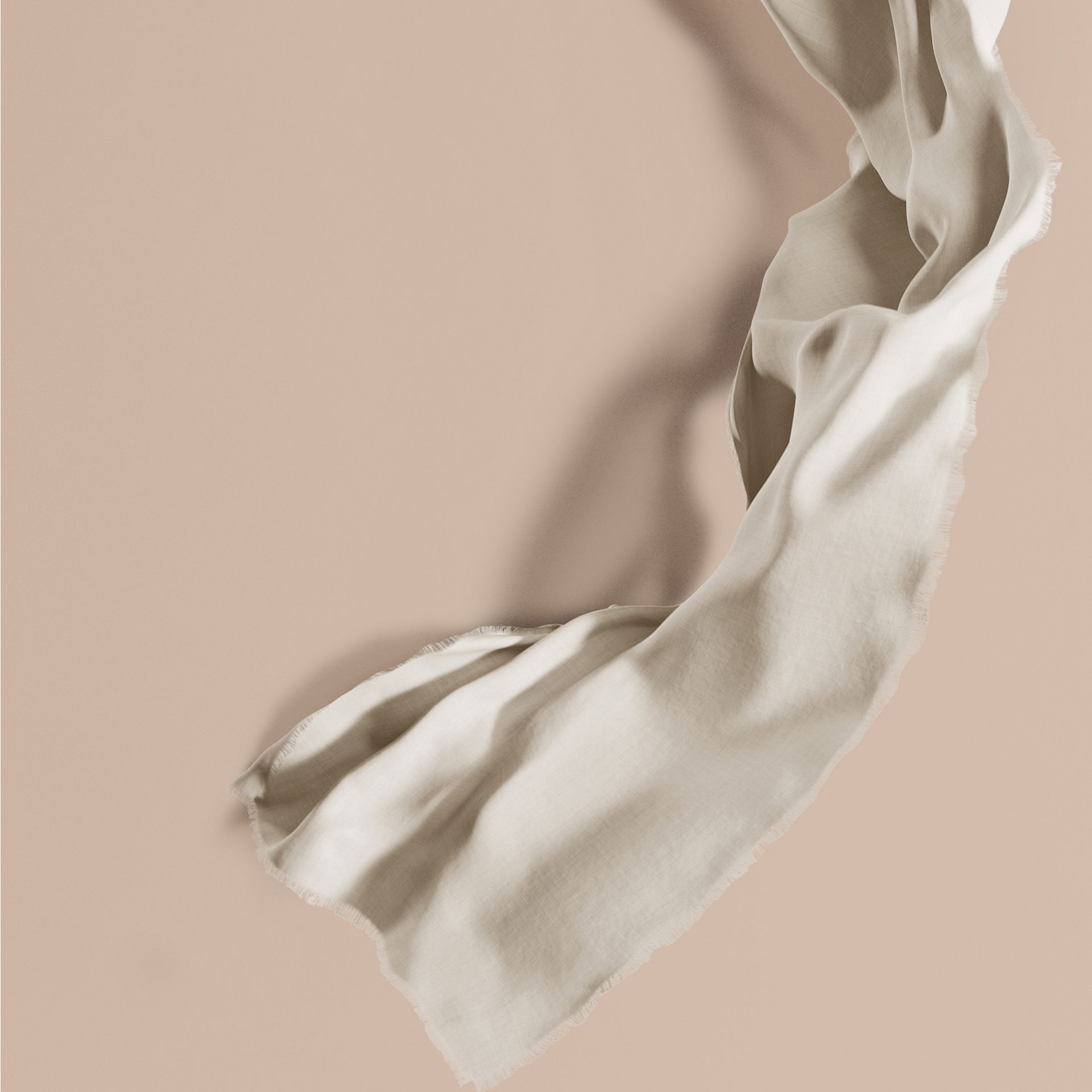 The Lightweight Cashmere Scarf in Natural White | Burberry - gallery image 1