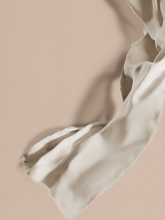 The Lightweight Cashmere Scarf in Natural White | Burberry Singapore